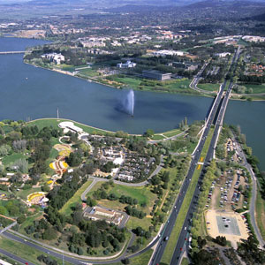 Lake Burley Griffin in Canberra