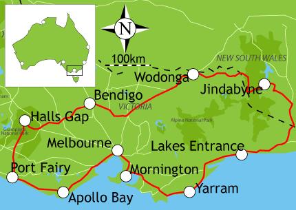 gold rush australia map. to the historic gold rush